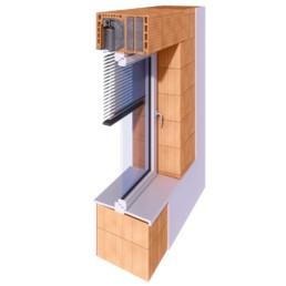 Tritscheler Wandschnitt - ThermoTon MS380 Plus Rollladen 50er